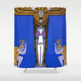 "Art Deco Orientalism ""Cleopatra"" Design Shower Curtain"
