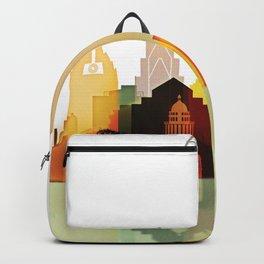 Austin colorful skyline Backpack