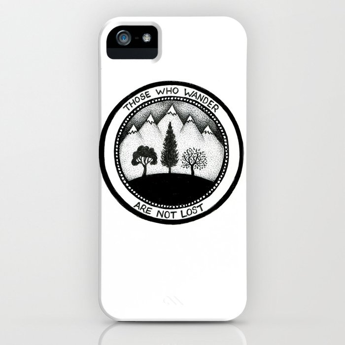 wanderling woods iphone case