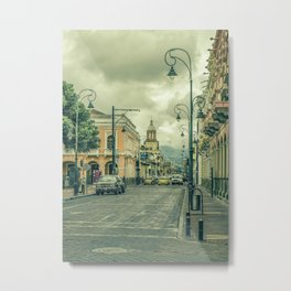 Riobamba Historic Center Urban Scene Metal Print