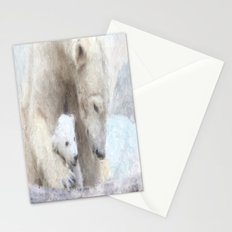 Polar Baer with Baby Stationery Cards