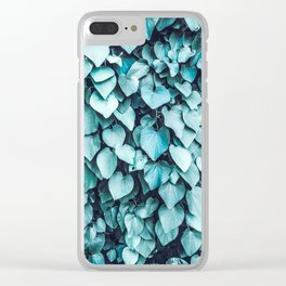 Blue Leaves | Vine | Photography | Turquoise | Botanical | Nature | Tropical | Spring Clear iPhone Case