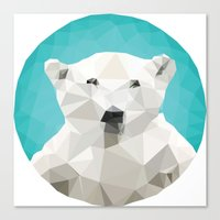 garden Canvas Prints featuring ♥ SAVE THE POLAR BEARS ♥ by ℳixed ℱeelings