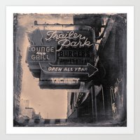 trailer park boys Art Prints featuring Trailer Park Lounge by Adam Metzner