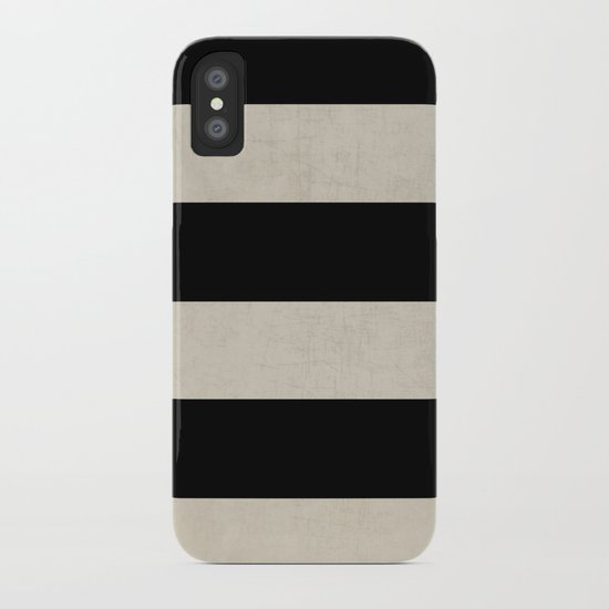 vintage black stripes iPhone Case