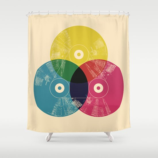 Music is the colors of life Shower Curtain