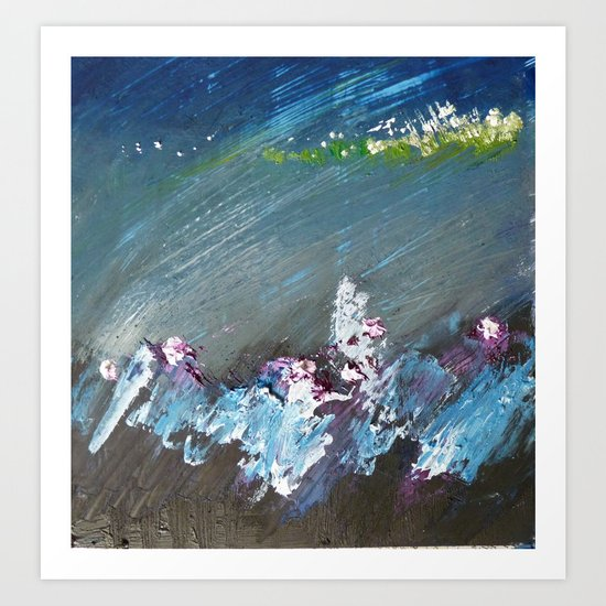 Splash into the Undergrowth Art Print
