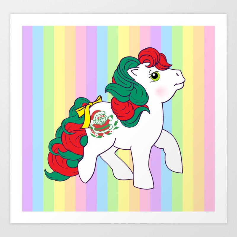 My Little Pony Christmas.G1 My Little Pony Christmas Merry Treat Art Print