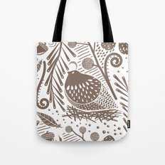 California Quail (Cocoa) Tote Bag
