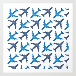 Plane Pattern Art Print