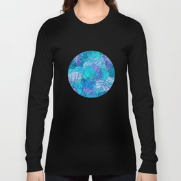 Leaves in Rosy Background 3 Long Sleeve T-shirt