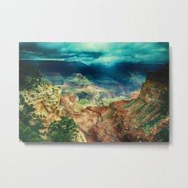 Grand Canyon Digital Paint Metal Print