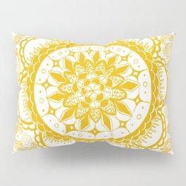 Orange Kaleidoscope Patterned Mandala Pillow Sham