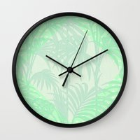 plant Wall Clocks featuring Plant by Mr and Mrs Quirynen