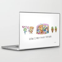 how i met your mother Laptop & iPad Skins featuring How I Met Your Father by mariorigami