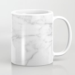 White Carrara Marble natural surface Coffee Mug