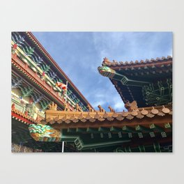 Chinese roof tops Canvas Print