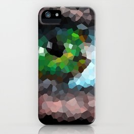 Big green eye. Abstract. Black background iPhone Case