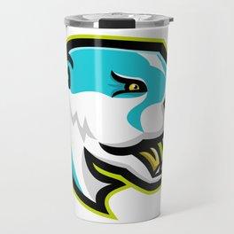 North American River Otter Mascot Travel Mug