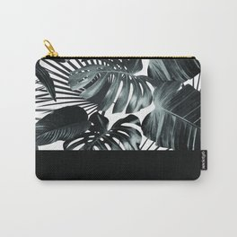 Palm Leaves and Black Carry-All Pouch