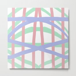 Pastel Crosshatch Metal Print