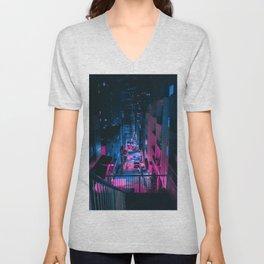 Cyberpunk Ciy Unisex V-Neck