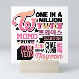 TWICE Font Collage Mini Art Print
