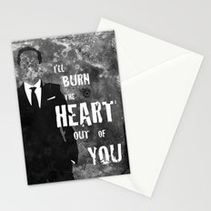 I'll Burn the Heart Out of You Stationery Cards