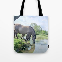 Drinking horses Tote Bag