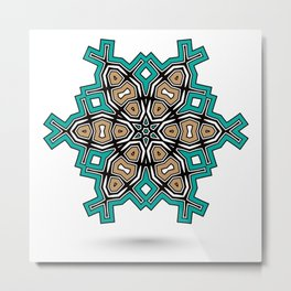 abstract maya mandala Metal Print