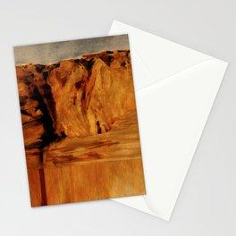 Sunset Cliffs Glitch Stationery Cards