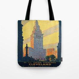 Vintage poster - Cleveland Tote Bag
