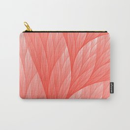 Living Coral Color of the Year 2019 Abstract Pattern Fractal Fine Art Carry-All Pouch