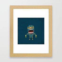Screaming Kick-Ass Framed Art Print