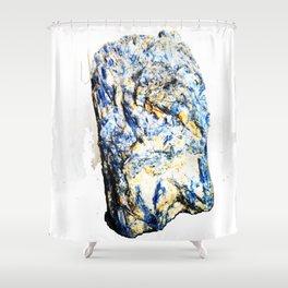 Kyanite crystall Gemstone Shower Curtain