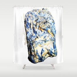 Kyanite crystall Gemstone Shower Curtain