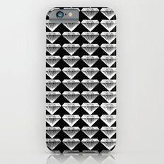 Diamonds Pattern - Black and White and Grey Slim Case iPhone 6s