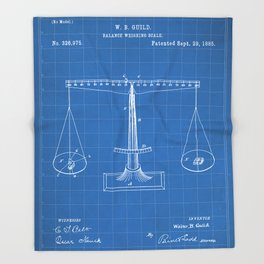 Lawyer Patent - Paralegal Art - Blueprint Throw Blanket
