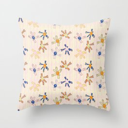 Quirky Flowers Throw Pillow