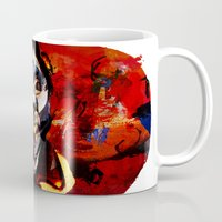 boxing Mugs featuring Boxing Bacon by Genco Demirer