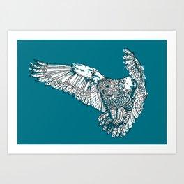 Mechanical owl Art Print