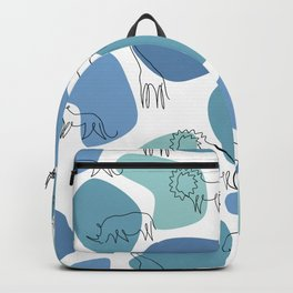 Big 5 Safari Minimalistic Line Art Backpack