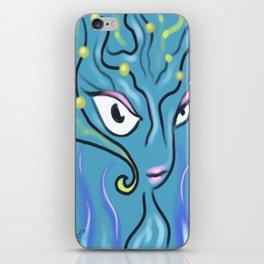 blue inferno iPhone Skin