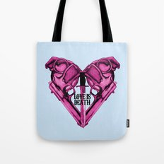 Love Is Death Heart Weapons Tote Bag