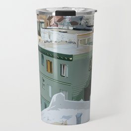 San Francisco Houses Travel Mug