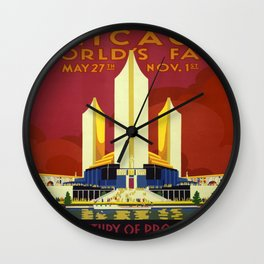Vintage poster - Chicago World's Fair Wall Clock