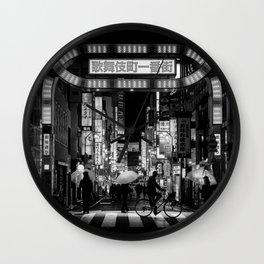 Tokyo Nights / Kabukichō / Liam Wong Wall Clock