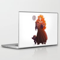 be brave Laptop & iPad Skins featuring Brave by Samanthadoodles