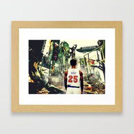Derrick Rose: Welcome to the jungle Framed Art Print