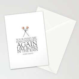 Roses In The Rain Stationery Cards